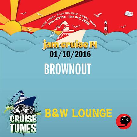 01/10/16 B&W Lounge, Jam Cruise, US