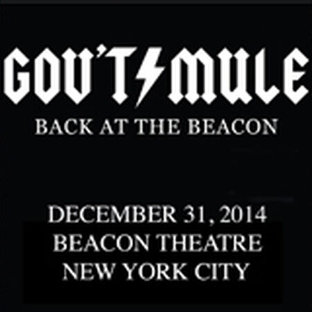 12/31/14 Beacon Theatre, New York, NY