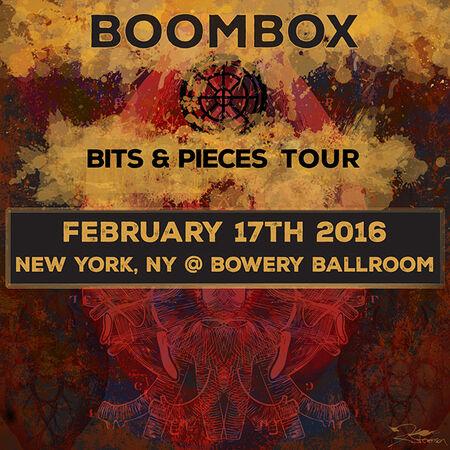 02/17/16 Bowery Ballroom, New York, NY