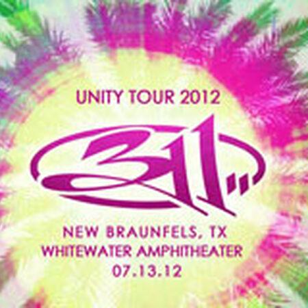 07/13/12 Whitewater Amphitheater, New Braunfels, TX