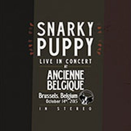 10/14/15 Ancienne Belgique, Brussels, BE