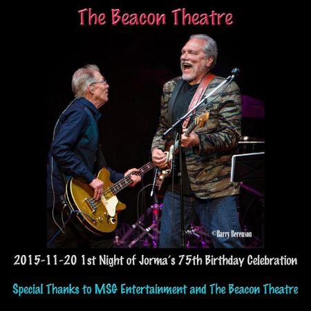 11/20/15 The Beacon Theatre, New York, NY