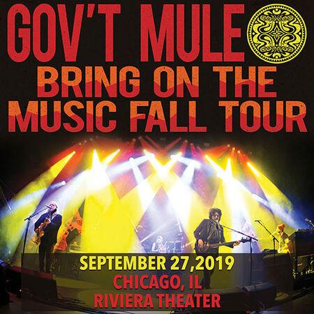 09/27/19 Riviera Theater, Chicago, IL
