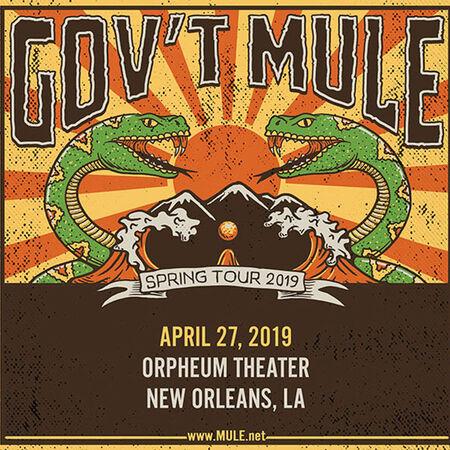 04/27/19 Orpheum Theater, New Orleans, LA
