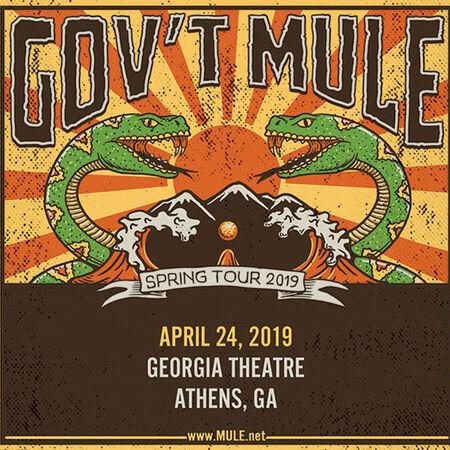 04/24/19 Georgia Theatre, Athens, GA