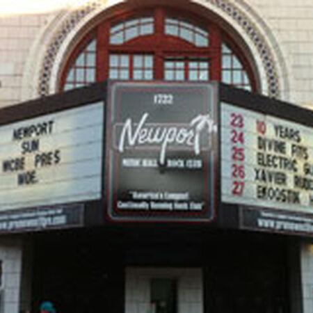 10/21/12 Newport Music Hall, Columbus, OH