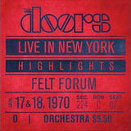 01/17/70 Live In New York (Highlights): Felt Forum, New York, NY