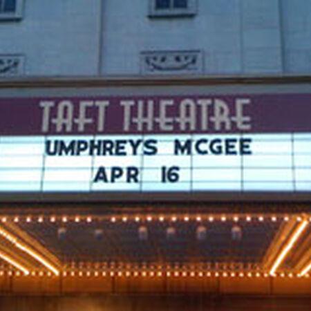 04/16/09 Taft Theatre, Cincinnati, OH