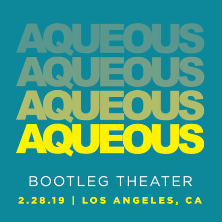 02/28/19 Bootleg Theater, Los Angeles, CA