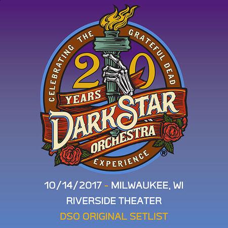 10/14/17 Riverside Theatre, Milwaukee, WI