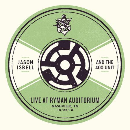 10/22/18 Ryman Auditorium, Nashville, TN
