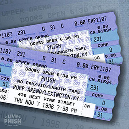 11/07/96 Rupp Arena, Lexington, KY