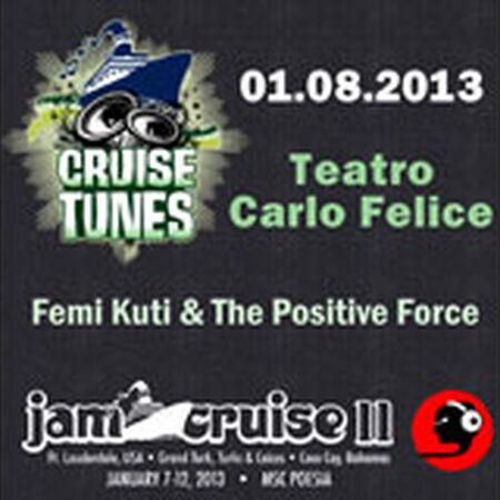 01/08/13 Teatro Carlo Felice, Jam Cruise, US
