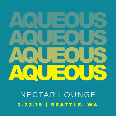 02/22/19 Nectar Lounge, Seattle, WA