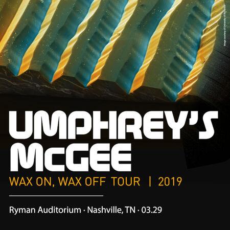 03/29/19 Ryman Auditorium, Nashville, TN