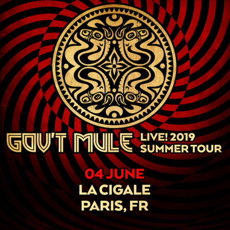 06/04/19 La Cigale, Paris, FR