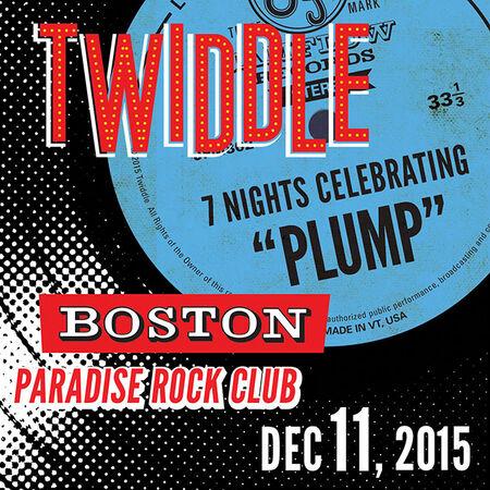 12/11/15 Paradise Rock Club, Boston, MA