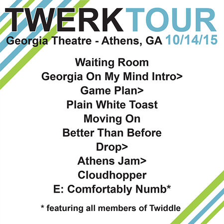 10/14/15 Georgia Theatre, Athens, GA