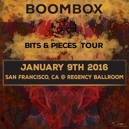 01/09/16 Regency Ballroom , San Francisco, CA