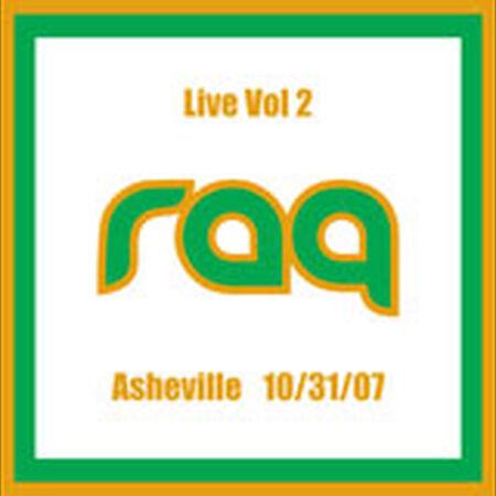 10/31/07 Live Vol. 2, Asheville, NC