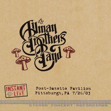 07/26/03 Post-Gazette Pavilion, Pittsburgh, PA