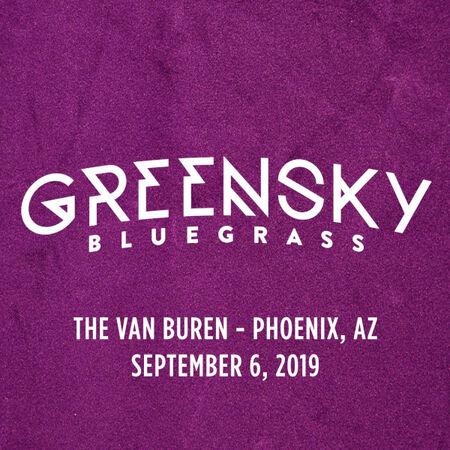 Greensky Bluegrass online-music of 09/06/2019, The Van Buren