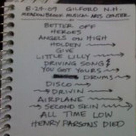 08/24/09 Meadowbrook US Cellular Pavilion, Gilford, NH