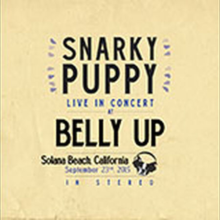 09/23/15 Belly Up, Solana Beach, CA