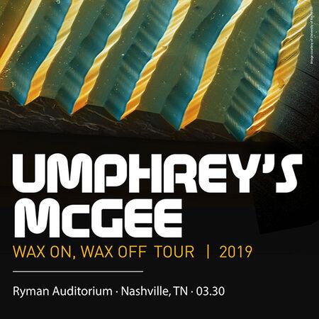 03/30/19 Ryman Auditorium, Nashville, TN