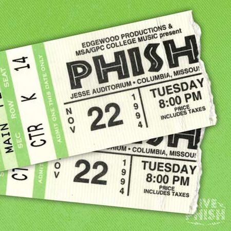 11/22/94 Jesse Auditorium - University of Missouri, Columbia, MO
