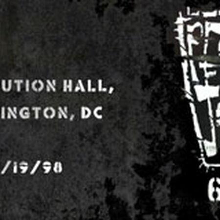 09/19/98 Constitution Hall, Washington, DC