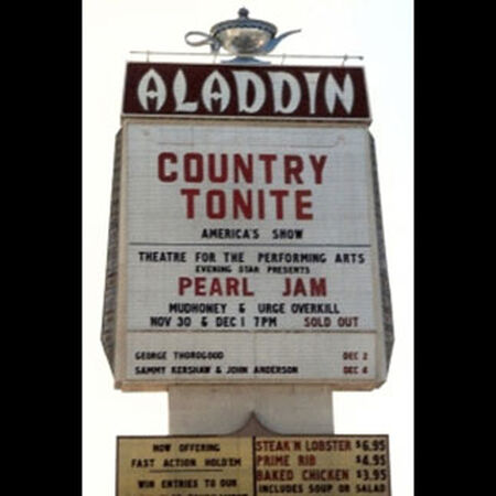 11/30/93 Aladdin Theater, Las Vegas, NV