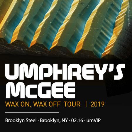 02/16/19 umVIP at Brooklyn Steel, Brooklyn, NY