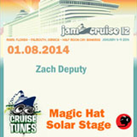 01/08/14 Magic Hat Solar Stage, Jam Cruise, US