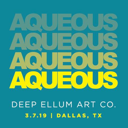 03/07/19 Deep Ellum Art Co, Dallas, TX