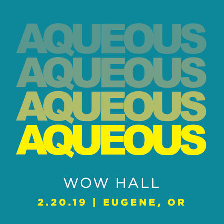02/20/19 WOW Hall, Eugene, OR
