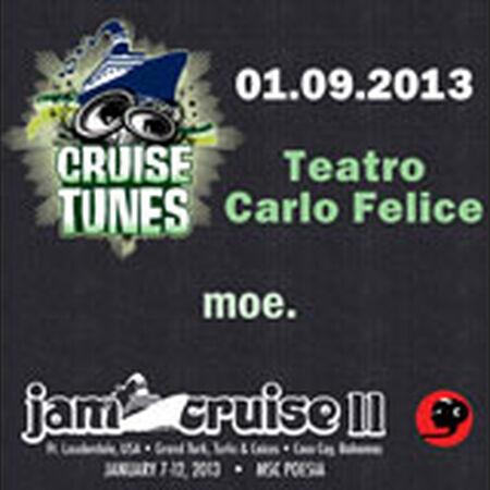 01/09/13 Teatro Carlo Felice, Jam Cruise, US