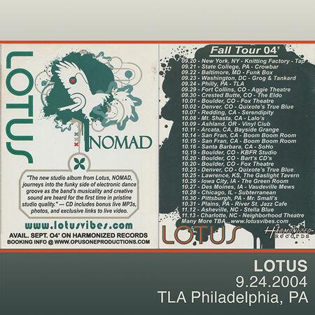 09/24/04 TLA, Philadelphia, PA
