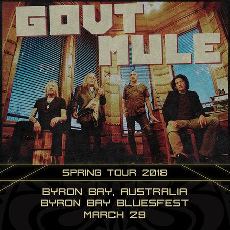 03/29/18 Byron Bay Bluesfest, Byron Bay, AUS