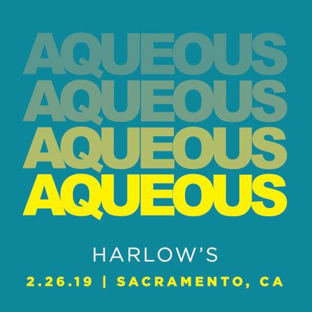 02/26/19 Harlow's, Sacramento, CA