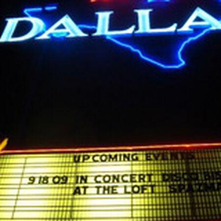 09/18/09 Palladium Ballroom, Dallas, TX