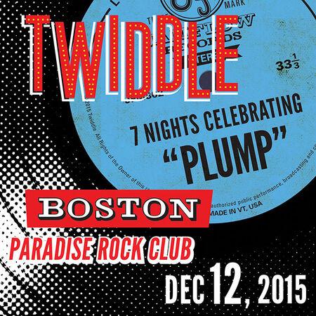 12/12/15 Paradise Rock Club, Boston, MA