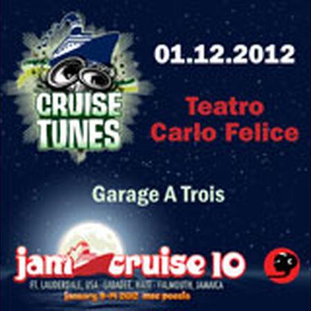 01/12/12 Teatro Carlo Felice, Jam Cruise, US
