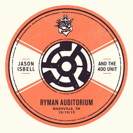 10/19/19 Ryman Auditorium, Nashville, TN