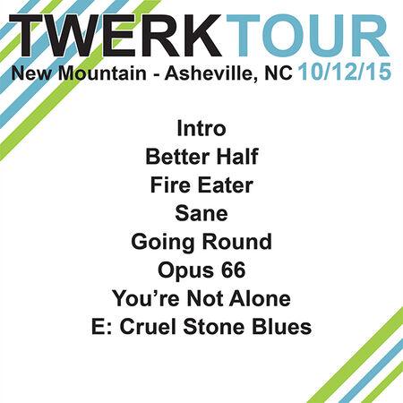 10/12/15 New Mountain, Asheville, NC