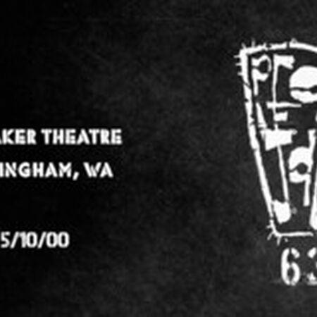 05/10/00 Mt. Baker Theatre, Bellingham, WA