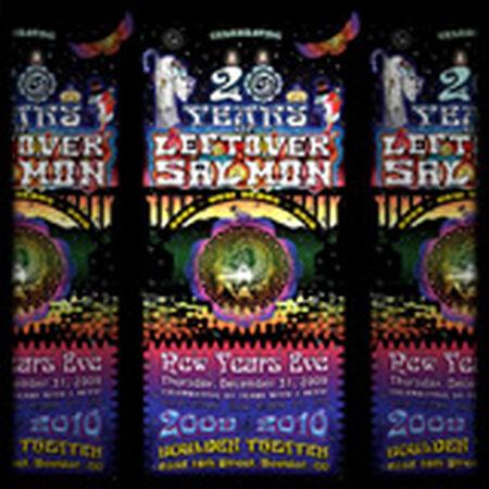 12/31/09 Boulder Theater, Boulder, CO