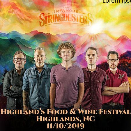 11/10/19 Highlands Food and Wine Festival, Highlands, NC