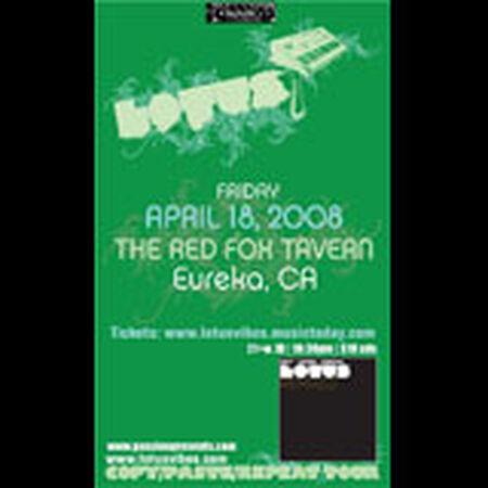 04/18/08 Red Fox Tavern, Eureka, CA