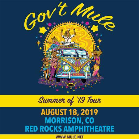 08/18/19 Red Rocks Amphitheatre, Morrison, CO